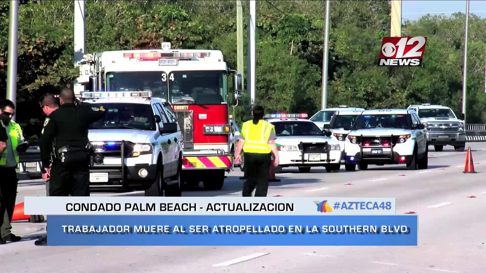 NOTI VIDEO: Trabajador de mantenimiento de Palm Beach, muere en la Southern Blvd.