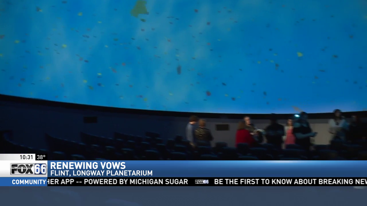 Couples renew vows at Longway Planetarium