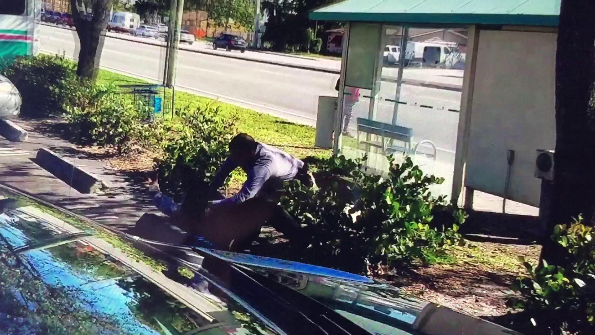 VIDEO EXCLUSIVO: Confrontación policial en un parqueadero público.