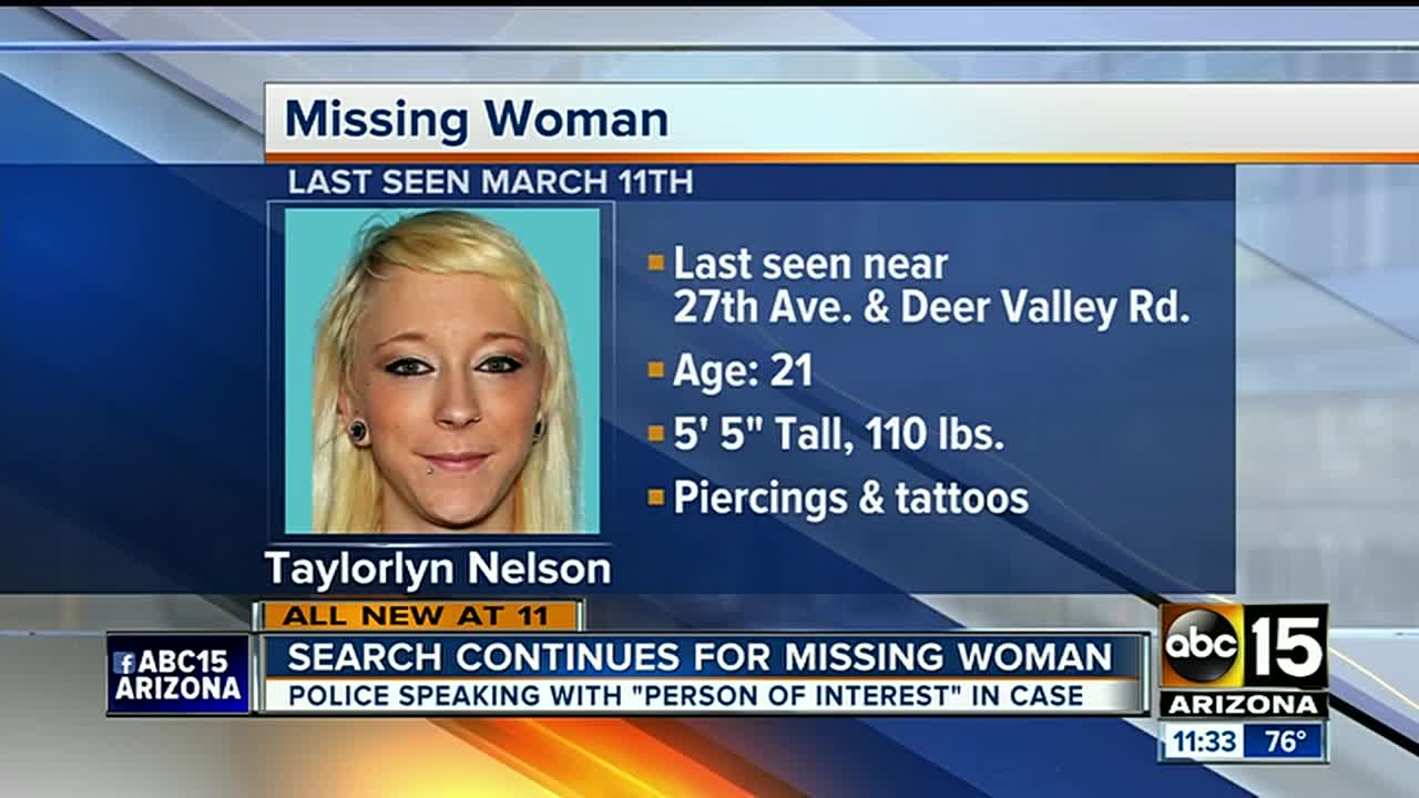 Taylorlyn Nelson search: Phoenix police searching for missing woman