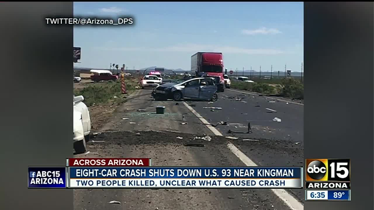 Department of Public Safety: 2 killed in crash on US 93