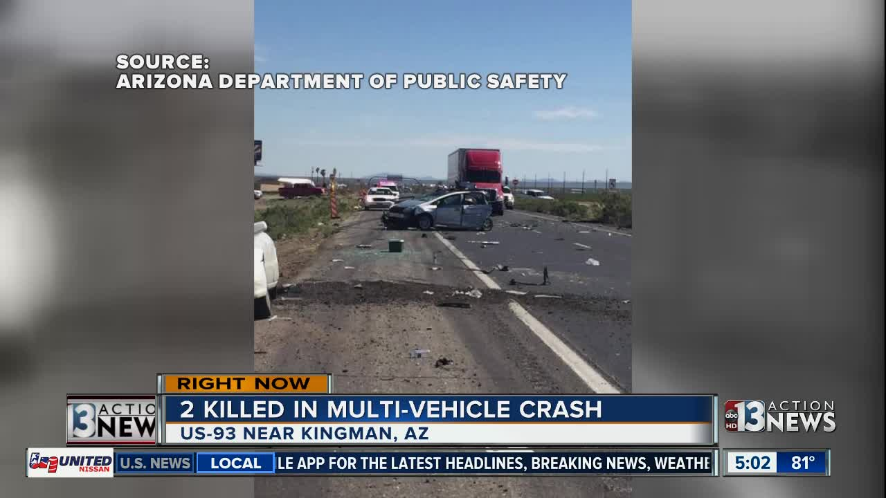 2 killed in multi-vehicle crash near Kingman, Arizona