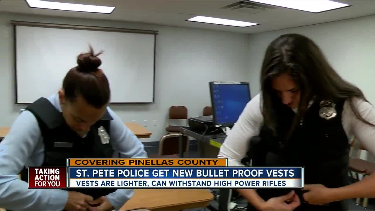 St  Pete Police get new body armor vests