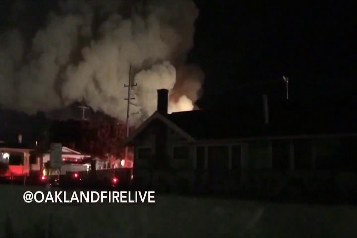 BREAKING NEWS: Up to 40 feared dead in warehouse party fire in Oakland
