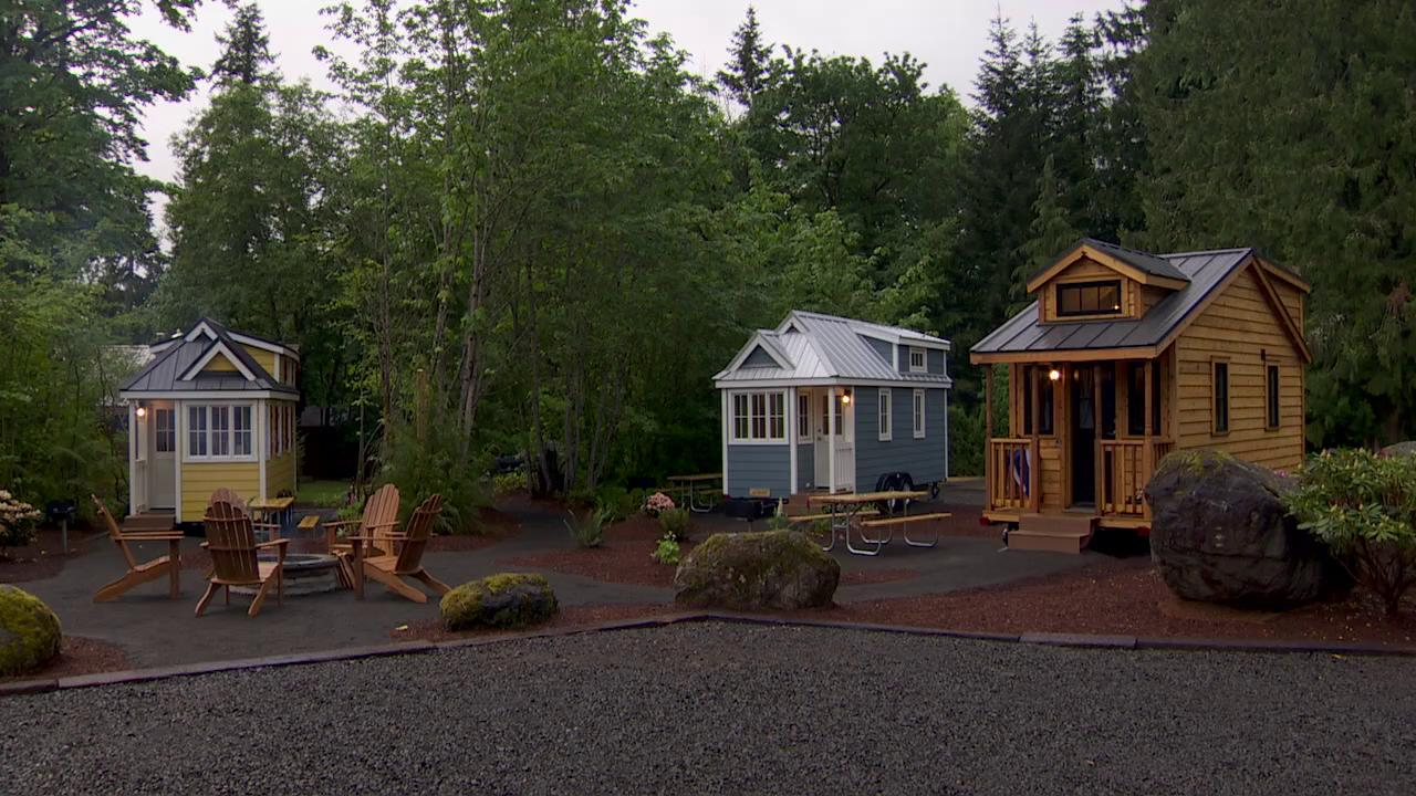 Try out small living at the Tiny House Village KATU
