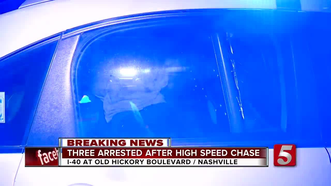 3 Arrested After Carjacking, Pursuit On I-40